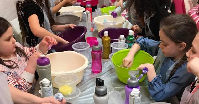 Unicorn Pamper Party with Slime
